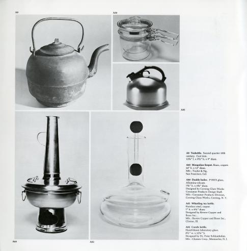 Objects for Preparing Food, exhibition catalogue, 1972.