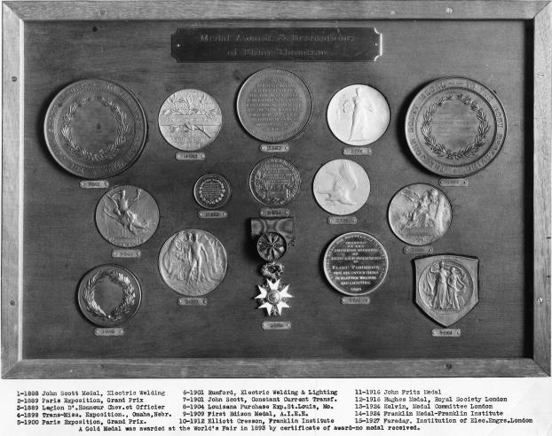 Medals given to engineer and inventor Elihu Thomson