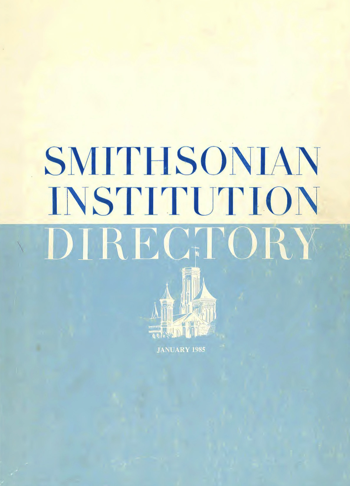 Cover from the directory for the Smithsonian Institution from 1985.