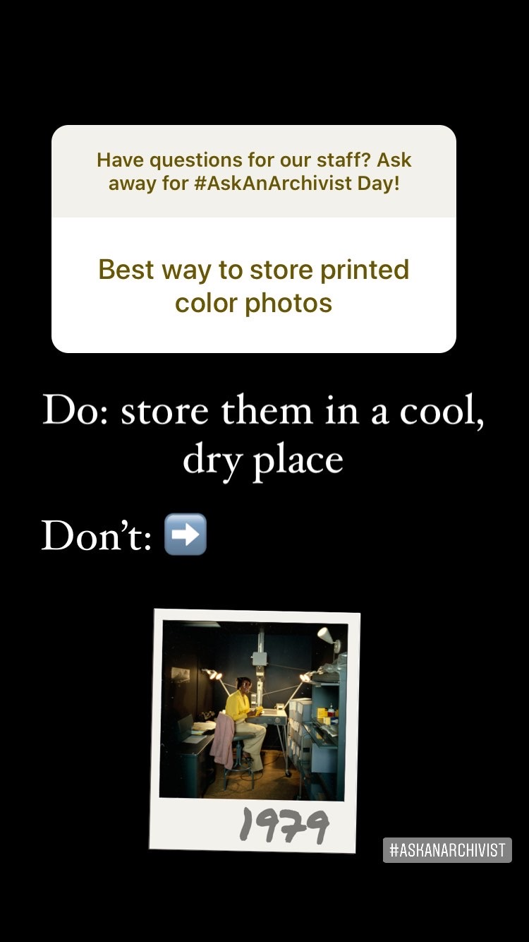 Slide with the question about storing photographs.