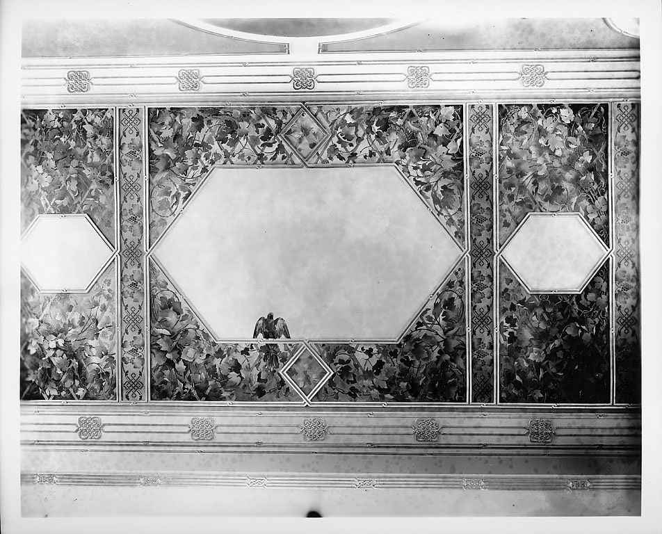 Ceiling of the Children's Room, Smithsonian Institution Building, South Tower, 1901. Smithsonian Ins