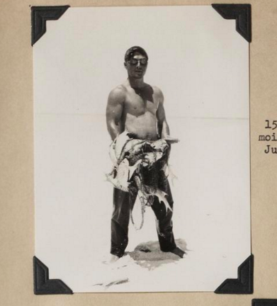 A.G. Anderson, from the Tanager Expedition crew, 1923.