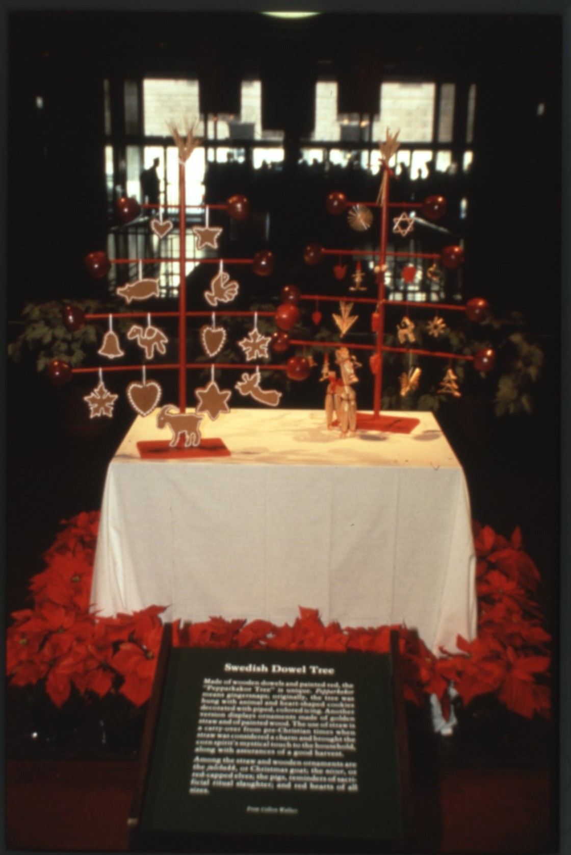 Swedish Pepparkakor Tree, 1980. Smithsonian Institution Archives, Accession 11-009: Smithsonian Phot