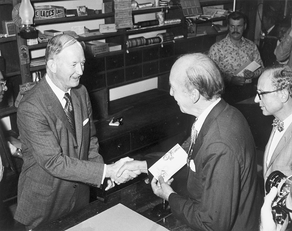 Opening of Post Office in NMHT, 1971.