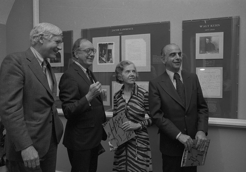 Opening of Archives of American Art exhibit, 'From Reliable Sources' on November 7, 1974. Smithsonian Institution Archives Record Unit 371 Box 2.