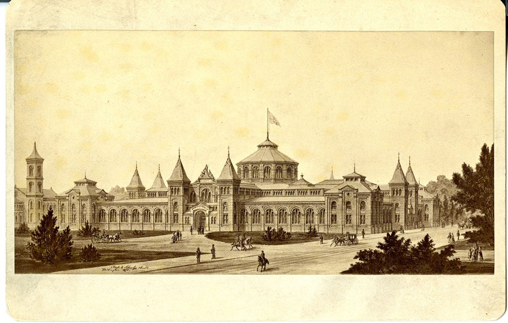 Arts and Industries Building, Rendering 1878.  Smithsonian Institution Archives, Record Unit 95, Box 32, Folder 3, Neg. # SIA2011-1079.