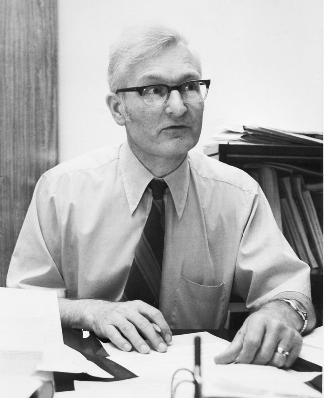 Dr. Robert M. Organ, Chief of the Conservation Analytical Laboratory, 1967-1983. Smithsonian Institution Archives, Record Unit 371, Box 2, Folder December 1974.