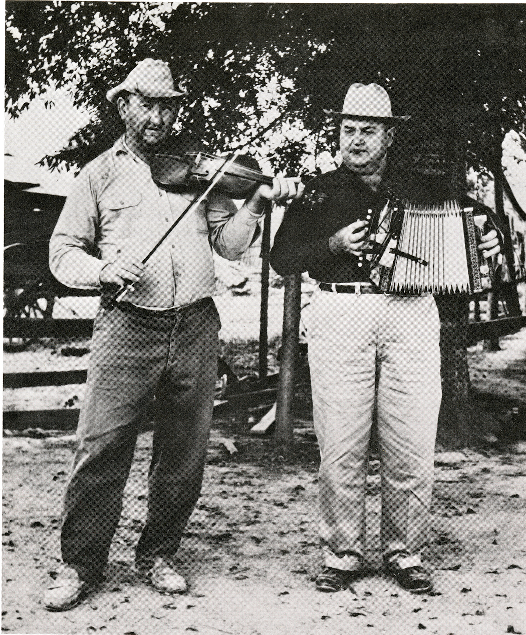 Cajun musicians stage an impromptu concert at the first Festival of American Folklife.  Smithsonian Institution Archives, Record Unit 371, Box 1, Folder July 1967.