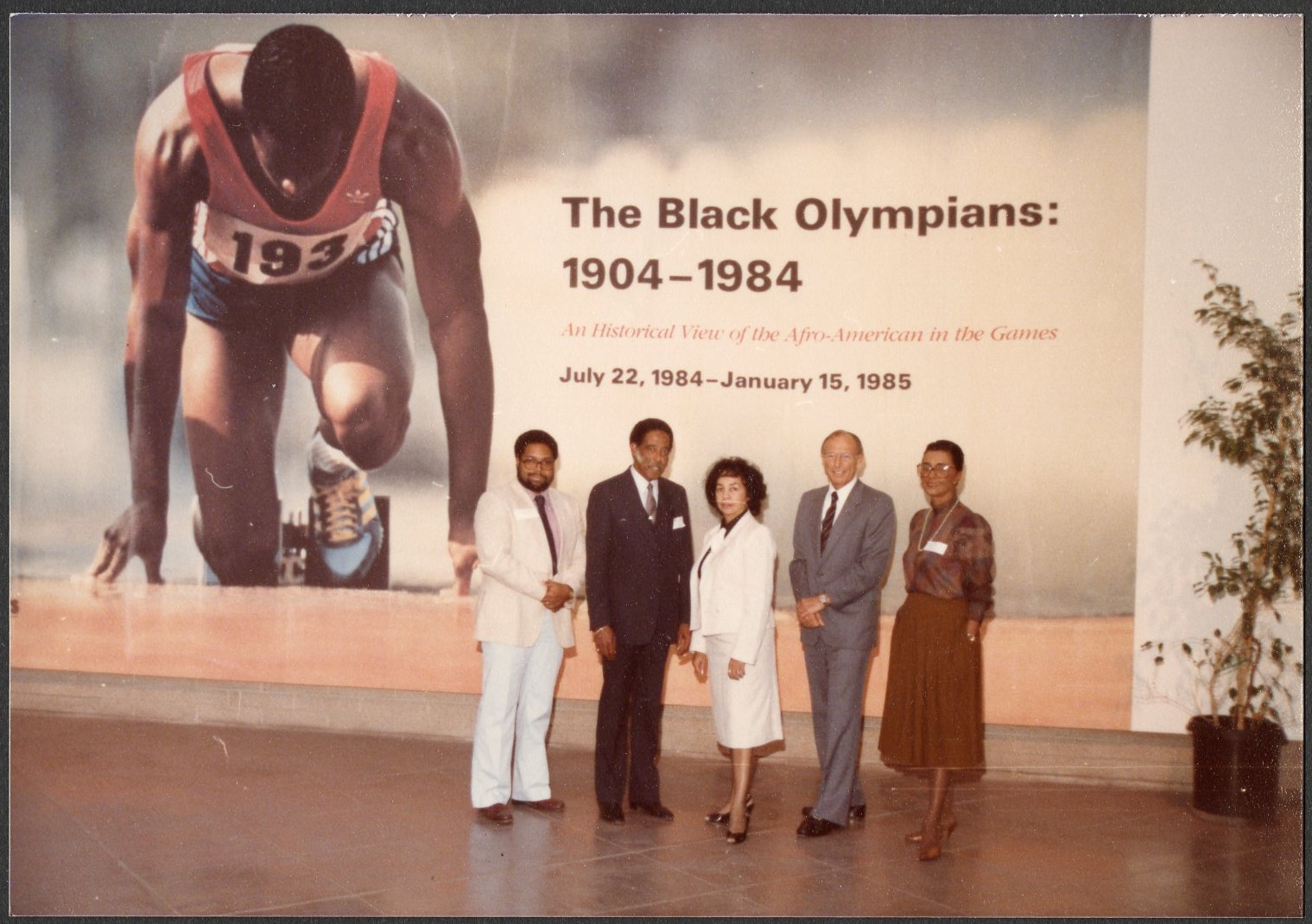 "Exhibition - ""The Black Olympians, 1904-1984,"" California Afro-American Museum, 1984. Accession 19-2"
