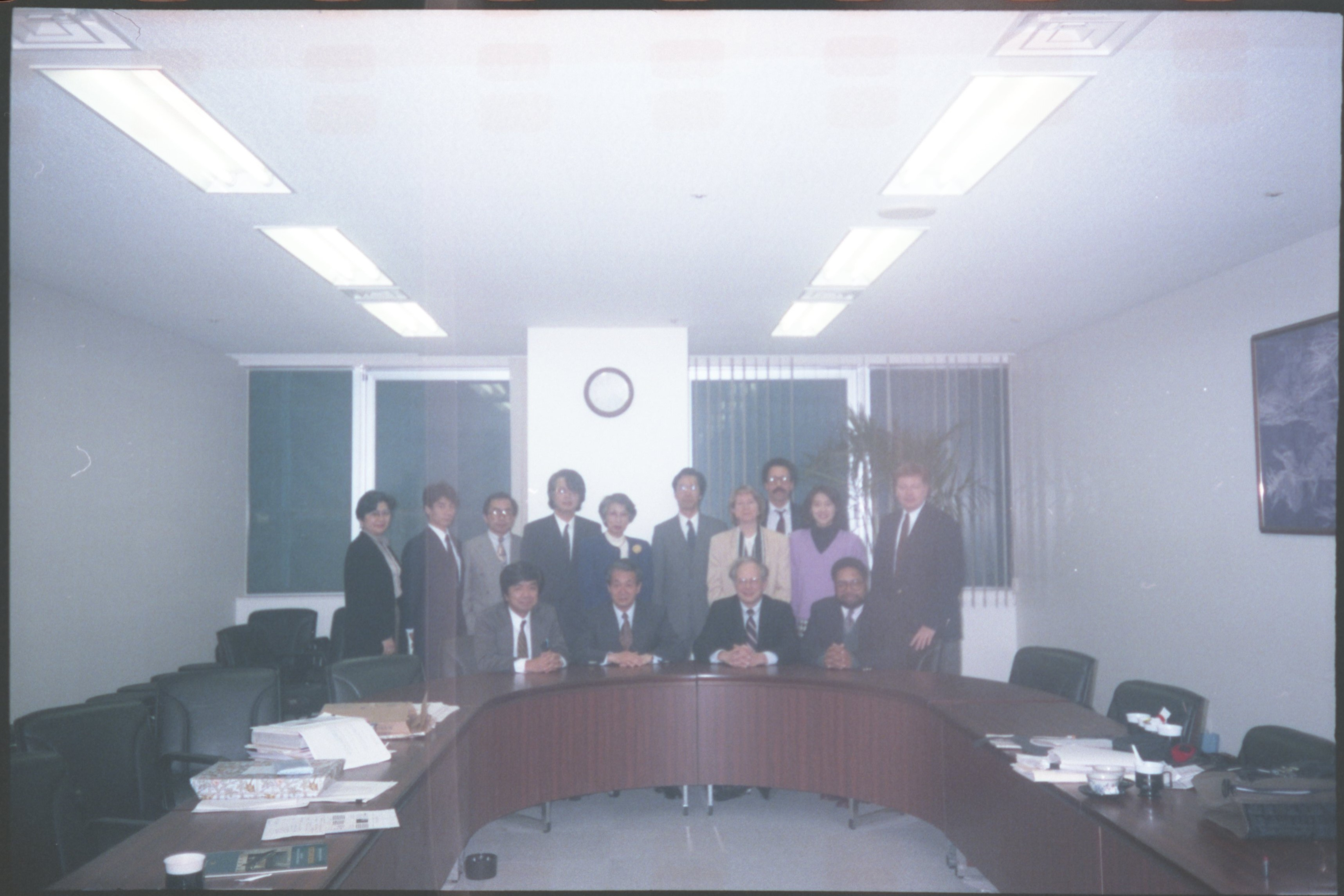 Lonnie G. Bunch, Harold Closter, and National Museum of American History staff in Japan for the exhi