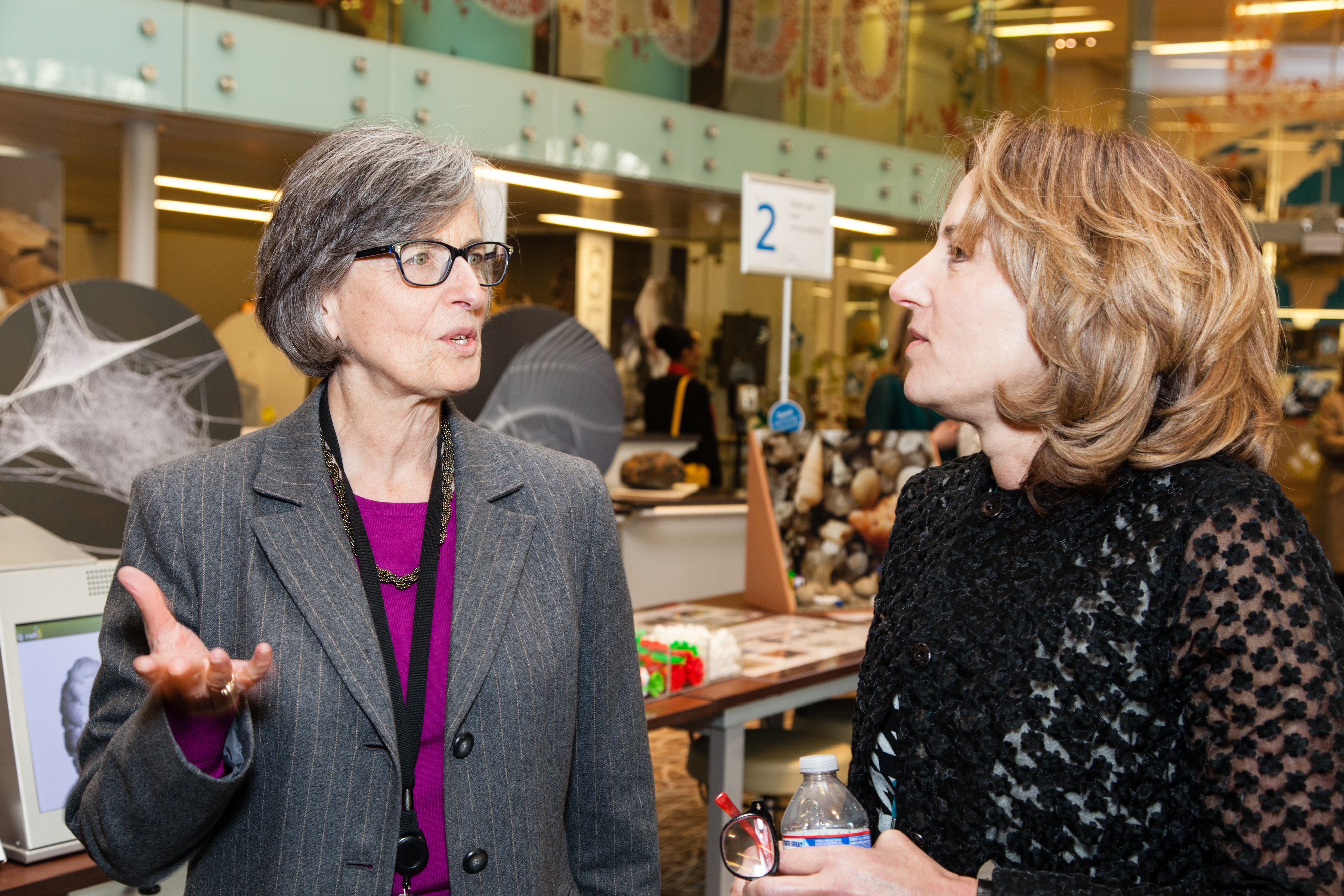 Smithsonian Undersecretary for Science Eva J. Pell at opening of Q?rius, the new education center at