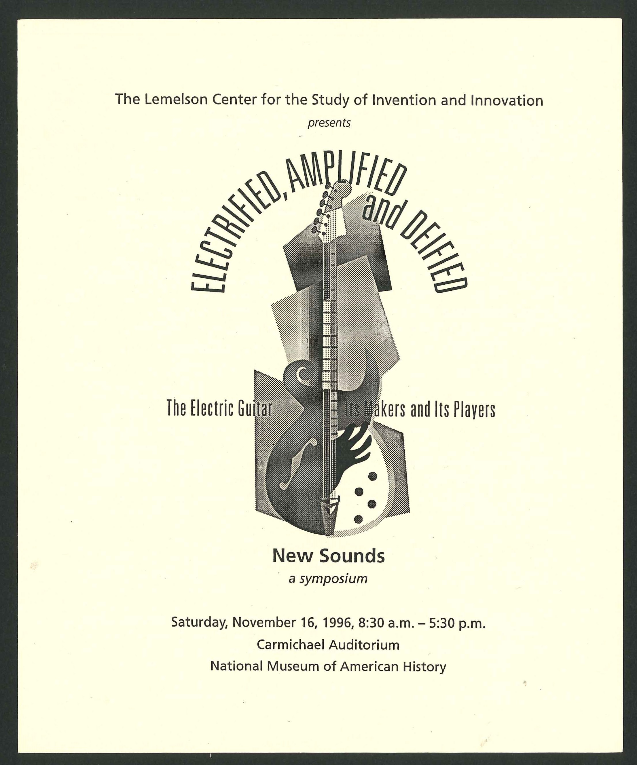 Cover of the program for the New Sounds symposium at the National Museum of American History on Nove