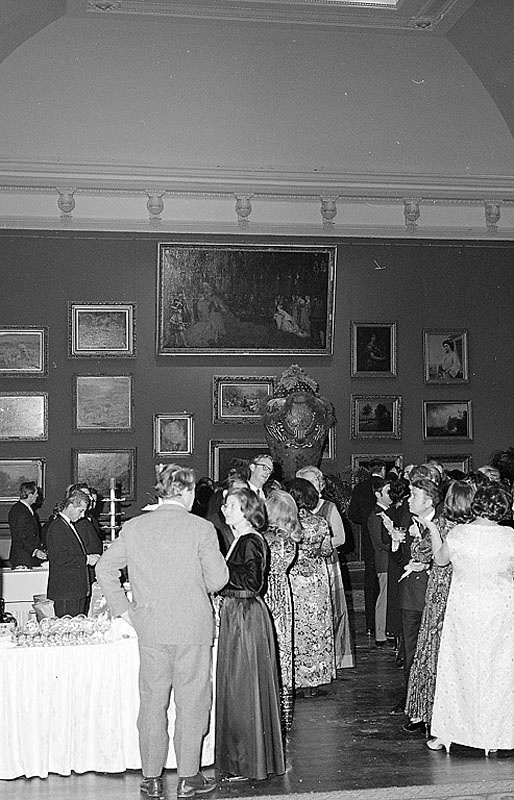 People gathered in the Grand Salon at the opening of new Renwick Gallery on January 27, 1972. Smithsonian Institution Archives, Record Unit 371, Box 1, Folder March 1972.