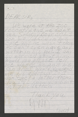 First page of a handwritten letter from Brian Sheridan.