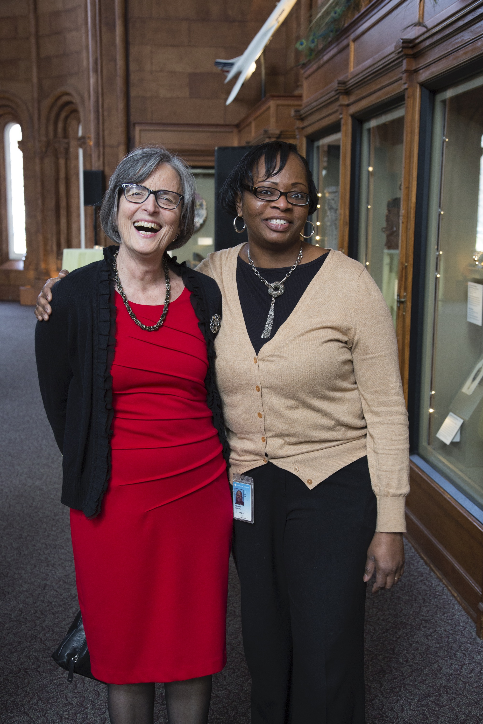 Smithsonian Undersecretary for Science Eva J. Pell with her assistant Sharon A. Williams at Pell's r