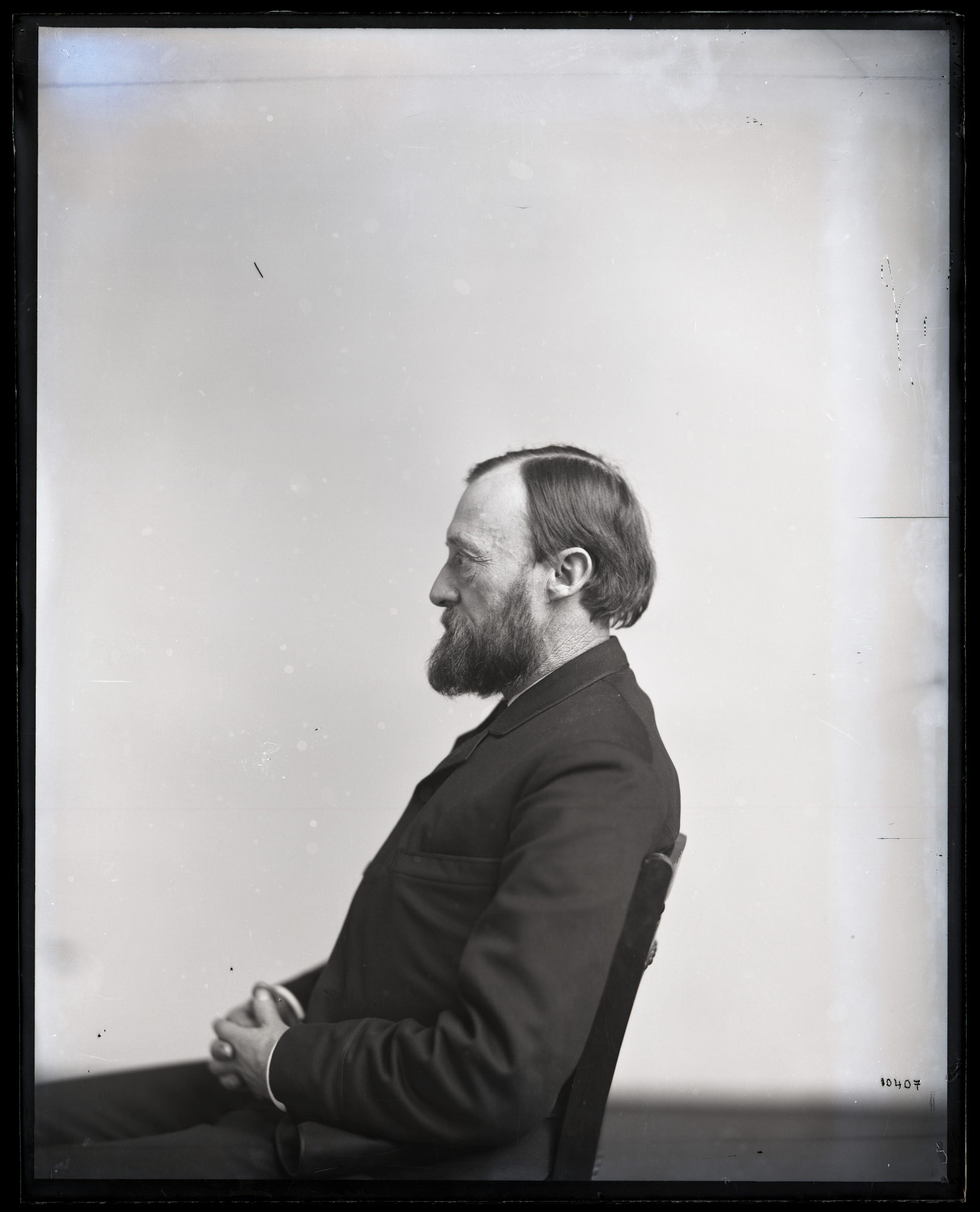 Portrait in Profile of Ferdinand Vandeveer Hayden (1829-1887)