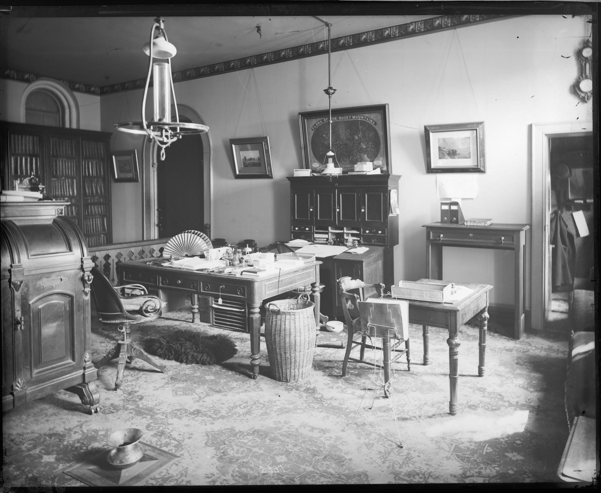 Secretary Spencer Fullerton Baird's Office in the Smithsonian Institution Building