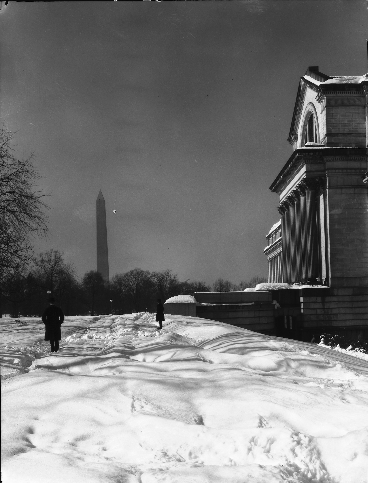 The National Mall after a snow storm, 1911.