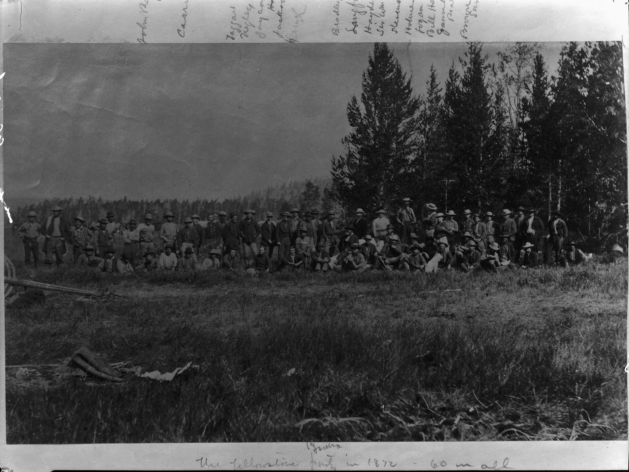 Hayden Survey Party, 1872. 8920-C or MAH-8920C.