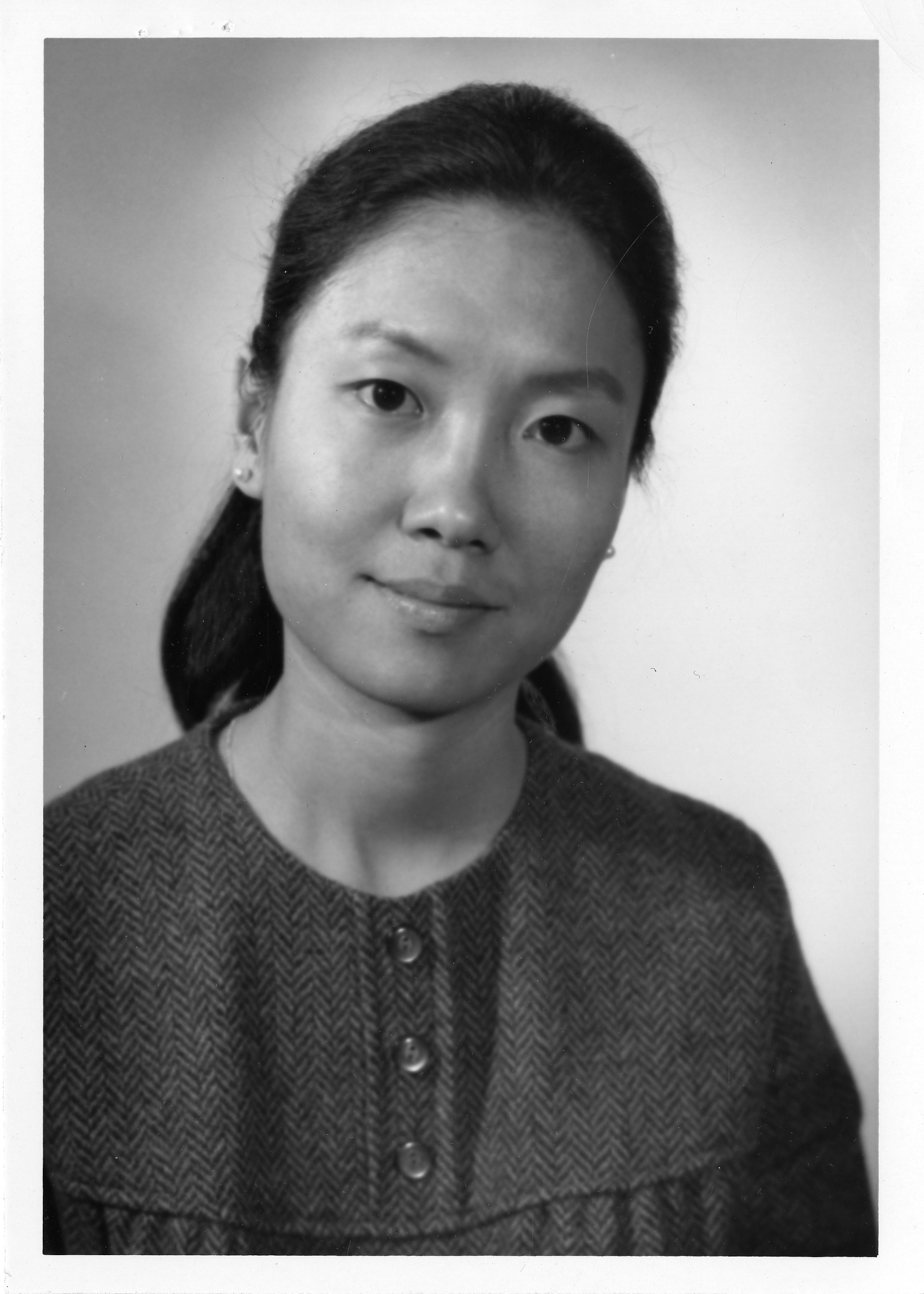Black and white portrait of Arlene Frances Fung.