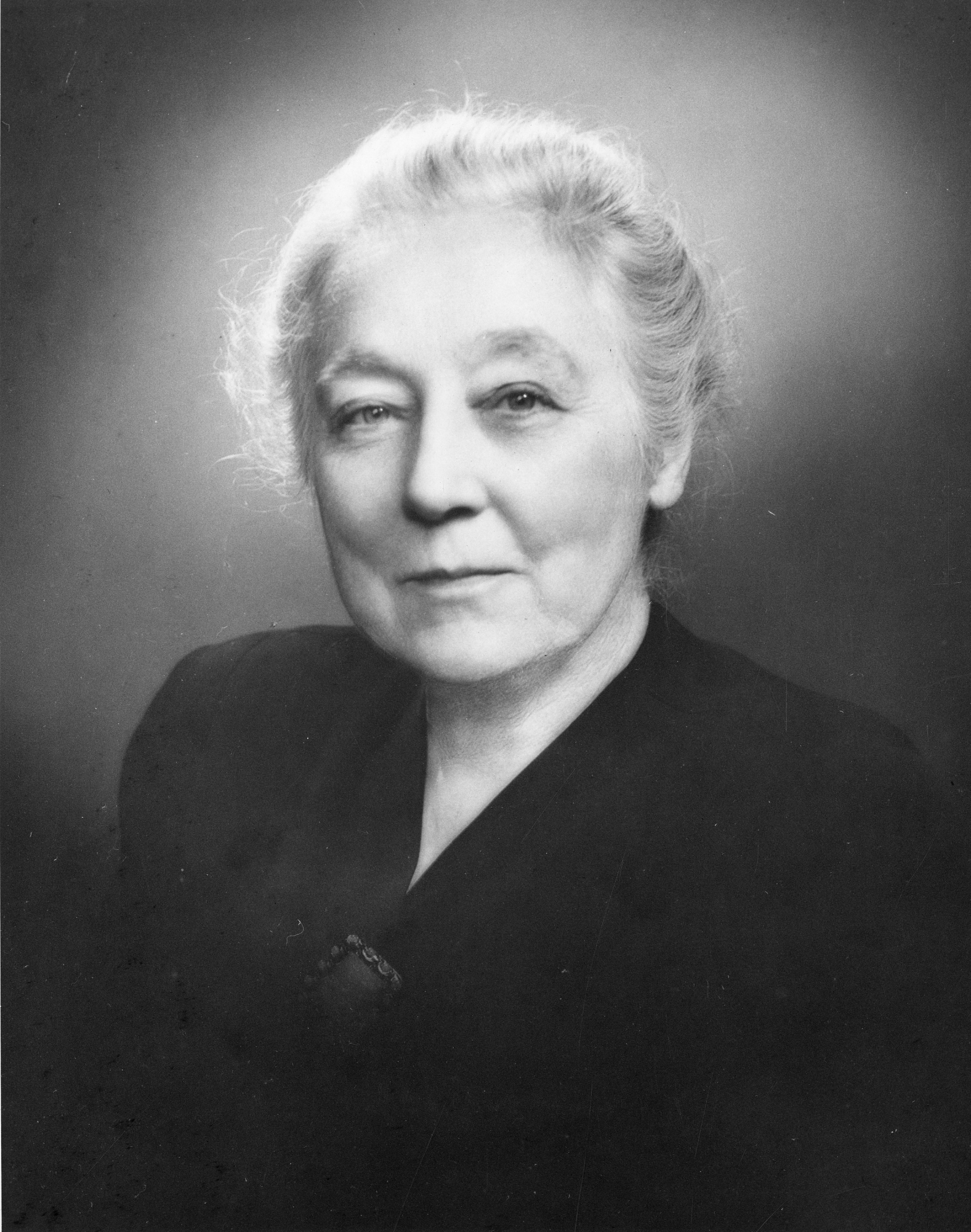 Black and white portrait of Catherine Macfarlane.