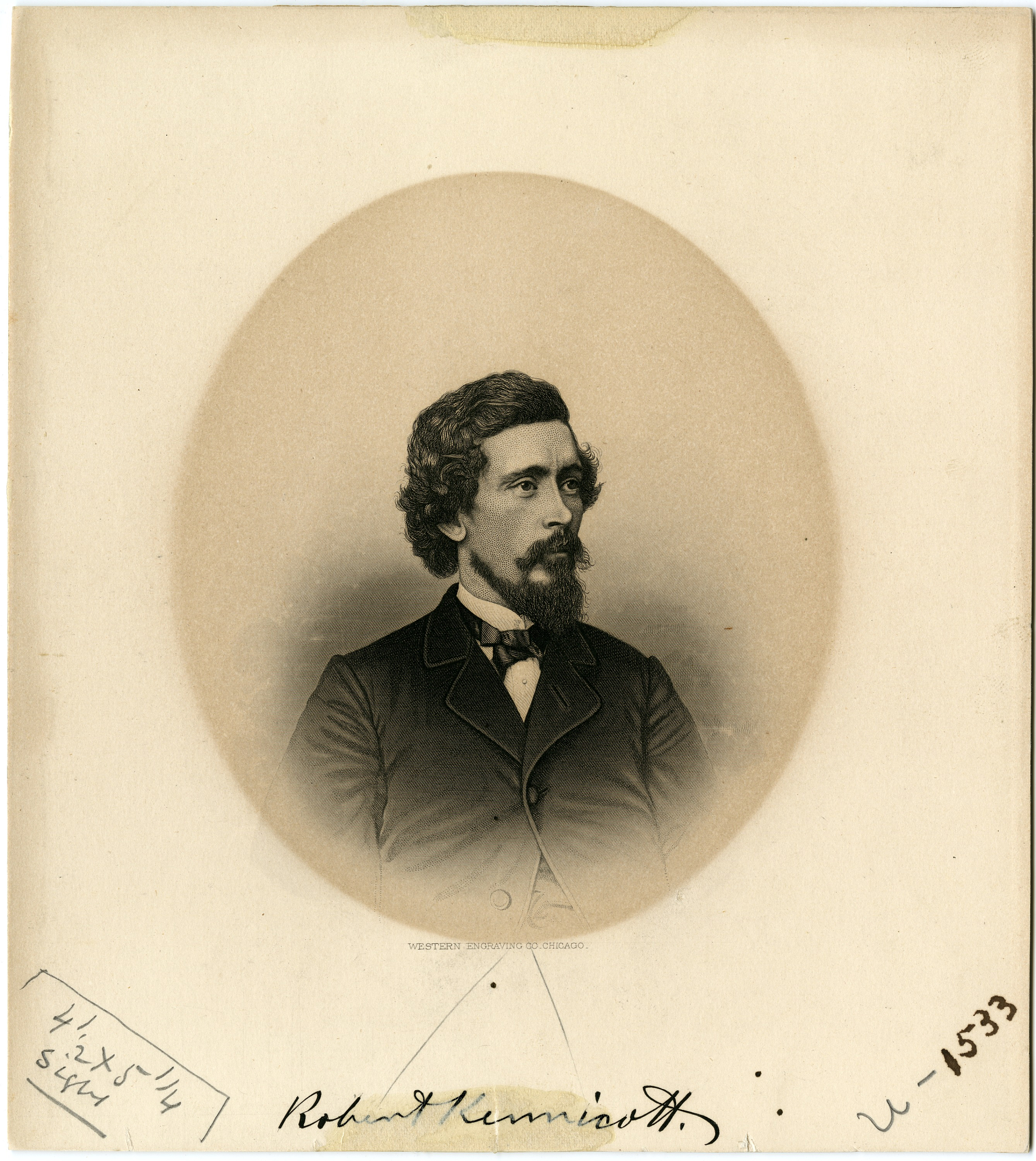 Engraving of Robert Kennicott