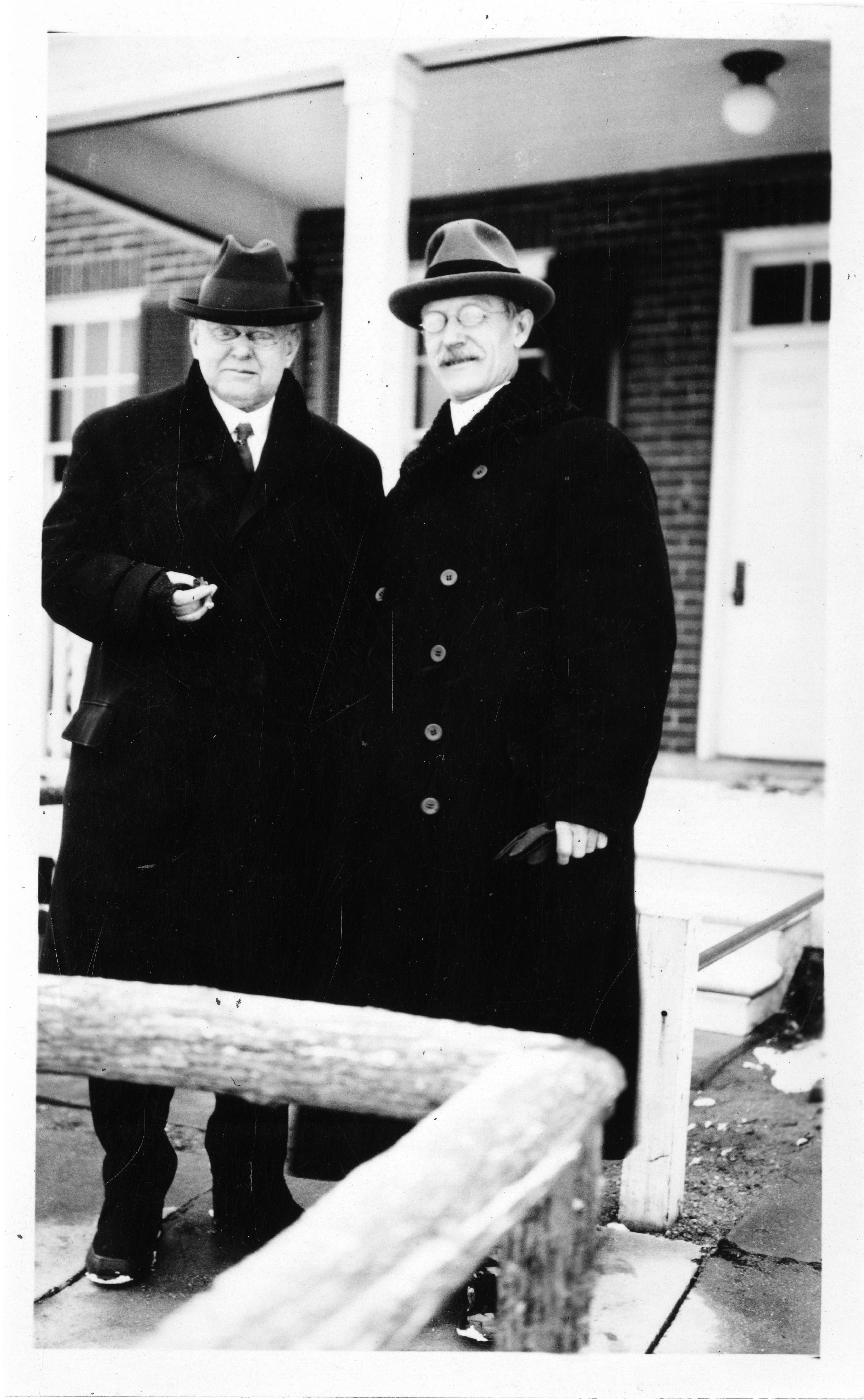 Astronomers George Henry Peters and Frank Bowers Littell.