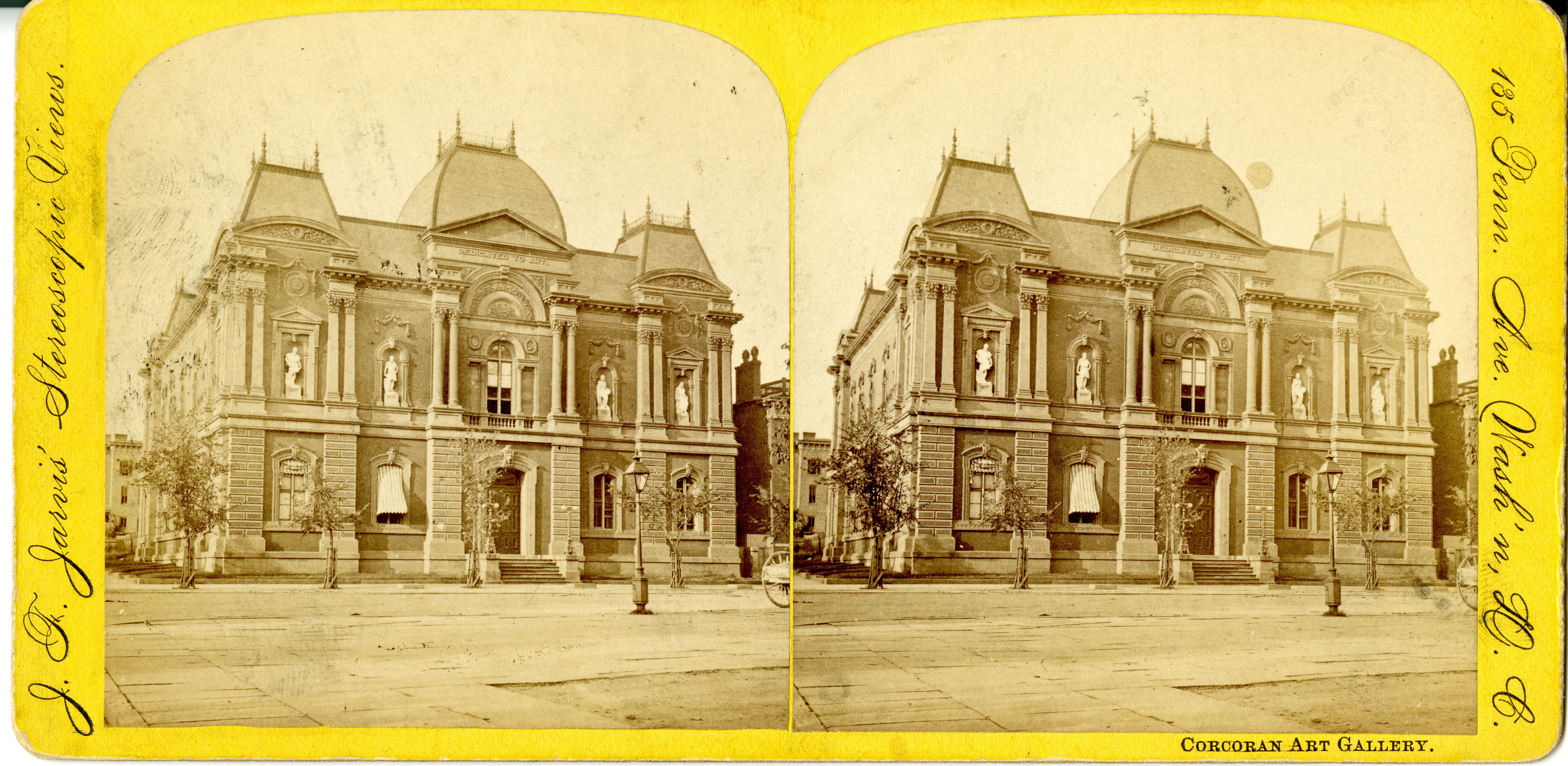 Stereoscopic views of a building.