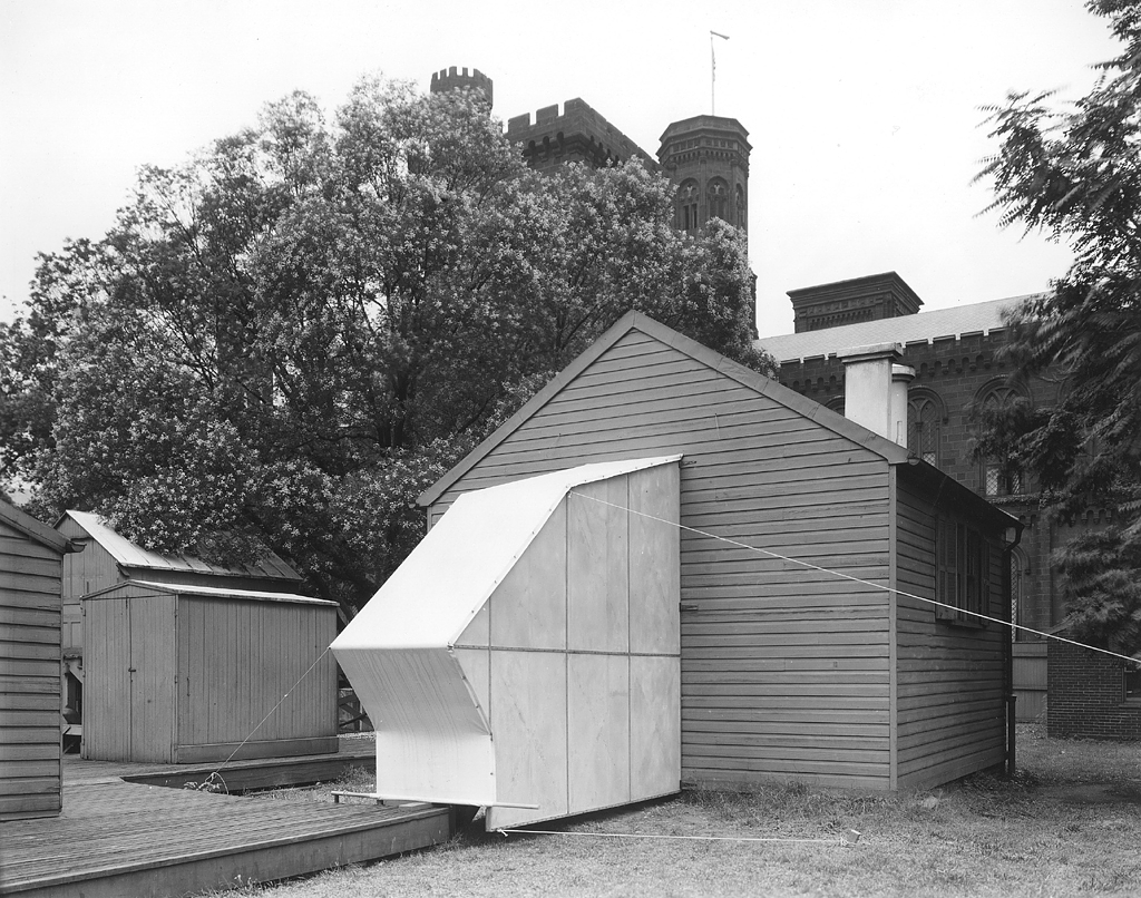 Solar Shed in the South Yard, circa 1950s.