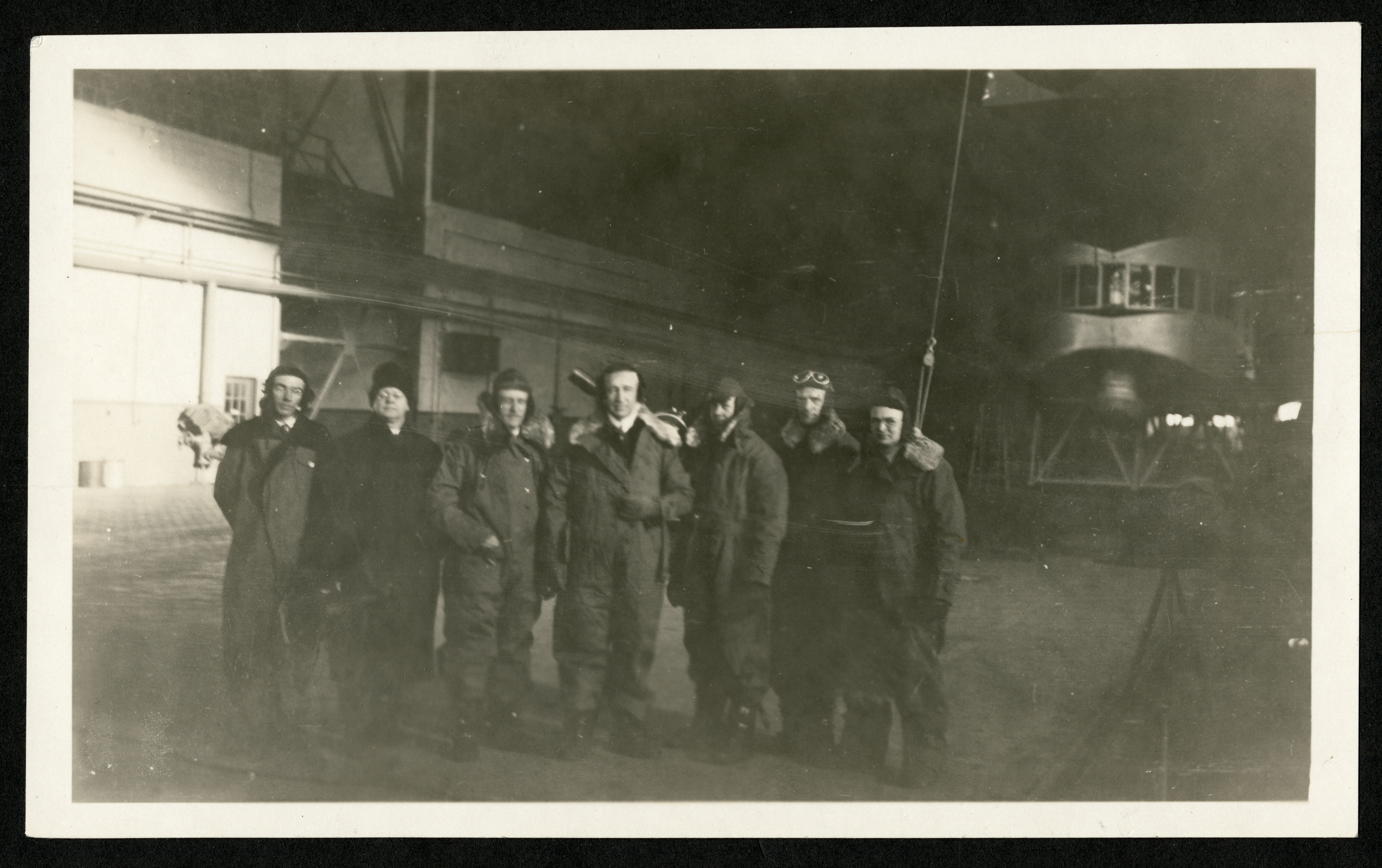 Crew and scientists for the solar eclipse expedition onboard the dirigible U.S.S. Los Angeles.
