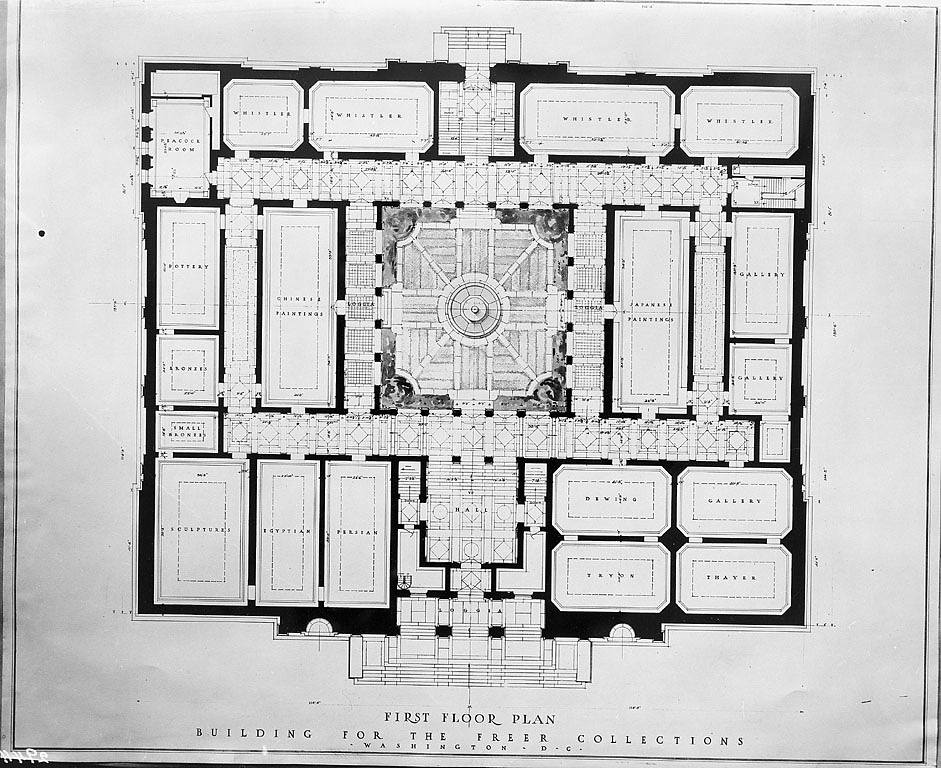 Floor Plan of Freer Gallery of Art, 1915.