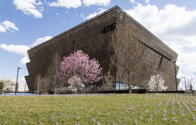 The National Museum of African American History and Culture, due to open to the public Sept. 24, photographed in March 2016, by Michael Barnes.