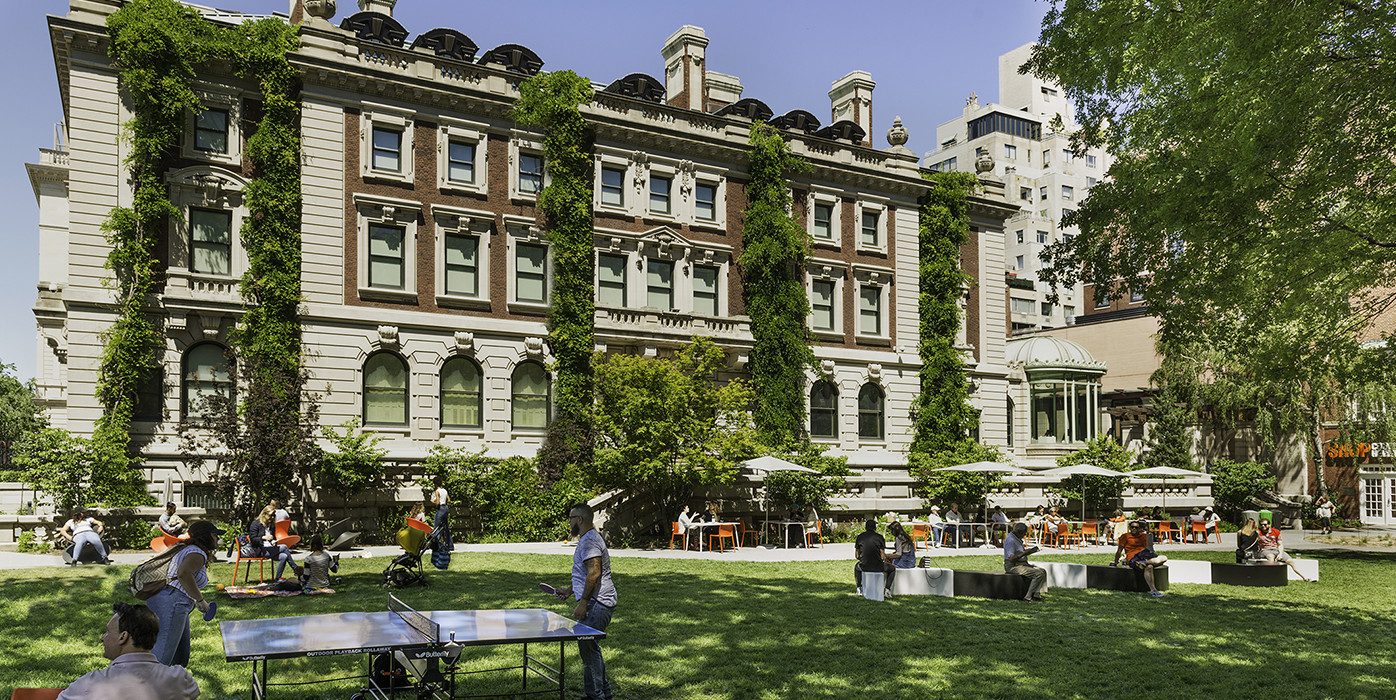 Cooper Hewitt's Carnegie Mansion and Arthur Ross Terrace and Garden