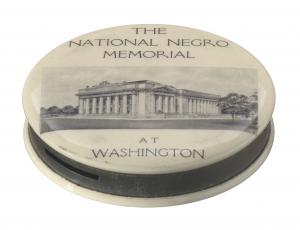 Keepsake pocket bank for the National Negro Memorial, ca. 1926.