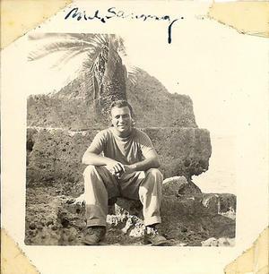 Sammy M. Ray on Okinawa, 1945