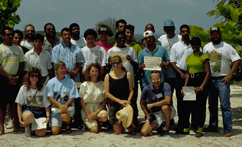 Photograph of a group of people participating in the Coral Reef Ecosystems Program
