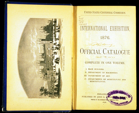 Title page of the 1876 Centennial Exhibition Catalogue