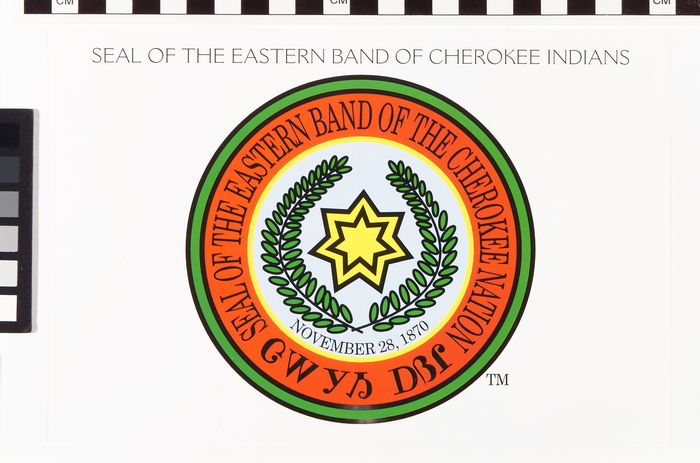 Seal of the Eastern Band of Cherokee Indians, 2002-2003, paper and ink, National Museum of the Ameri