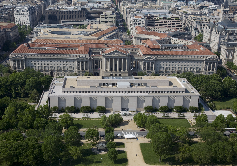 Aerial view of NMAH