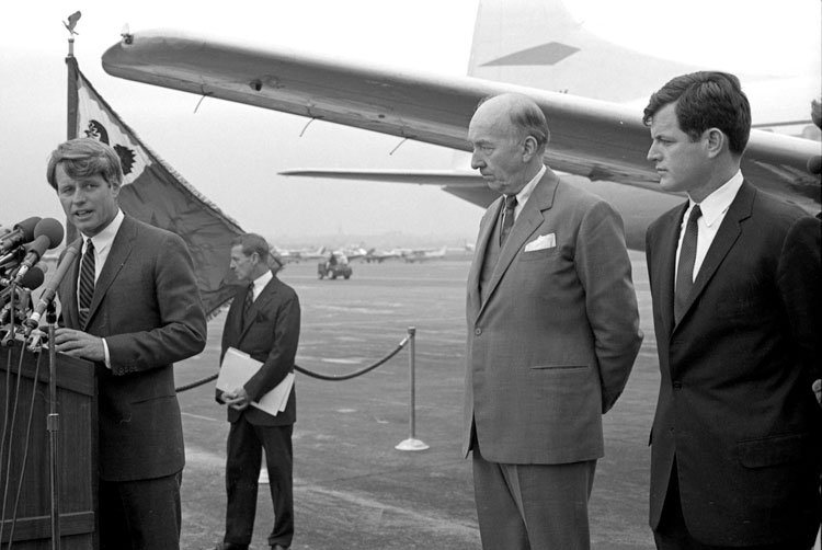 "Presentation of Kennedy Aircraft ""Caroline"" to the Smithsonian"