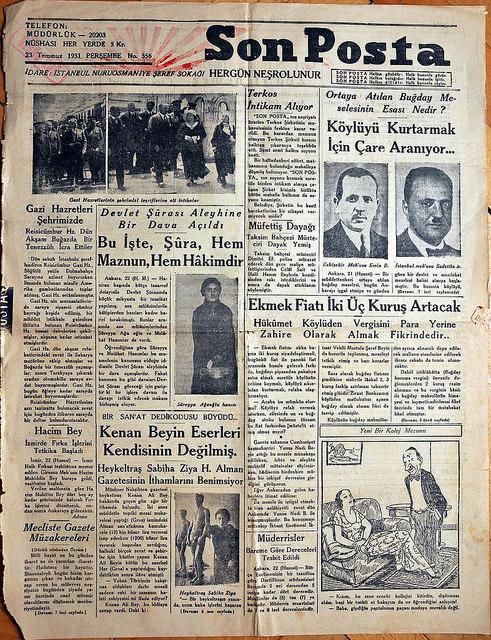 Atatürk Bust, San Posta, 23 Temmuz 1931, SALT Research, https://www.flickr.com/photos/saltonline/