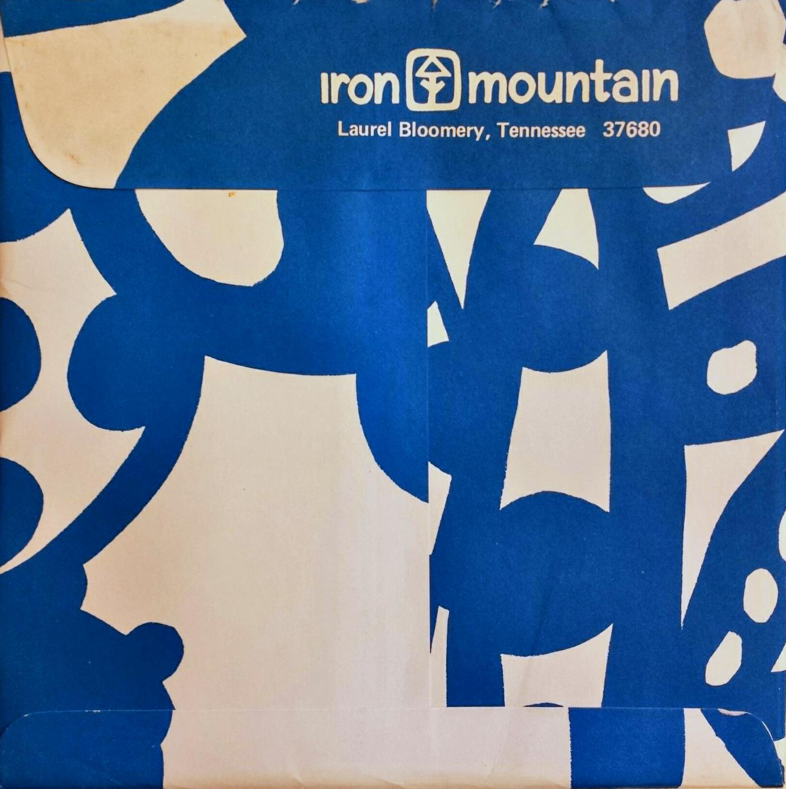 Iron Mountain Stoneware envelope.