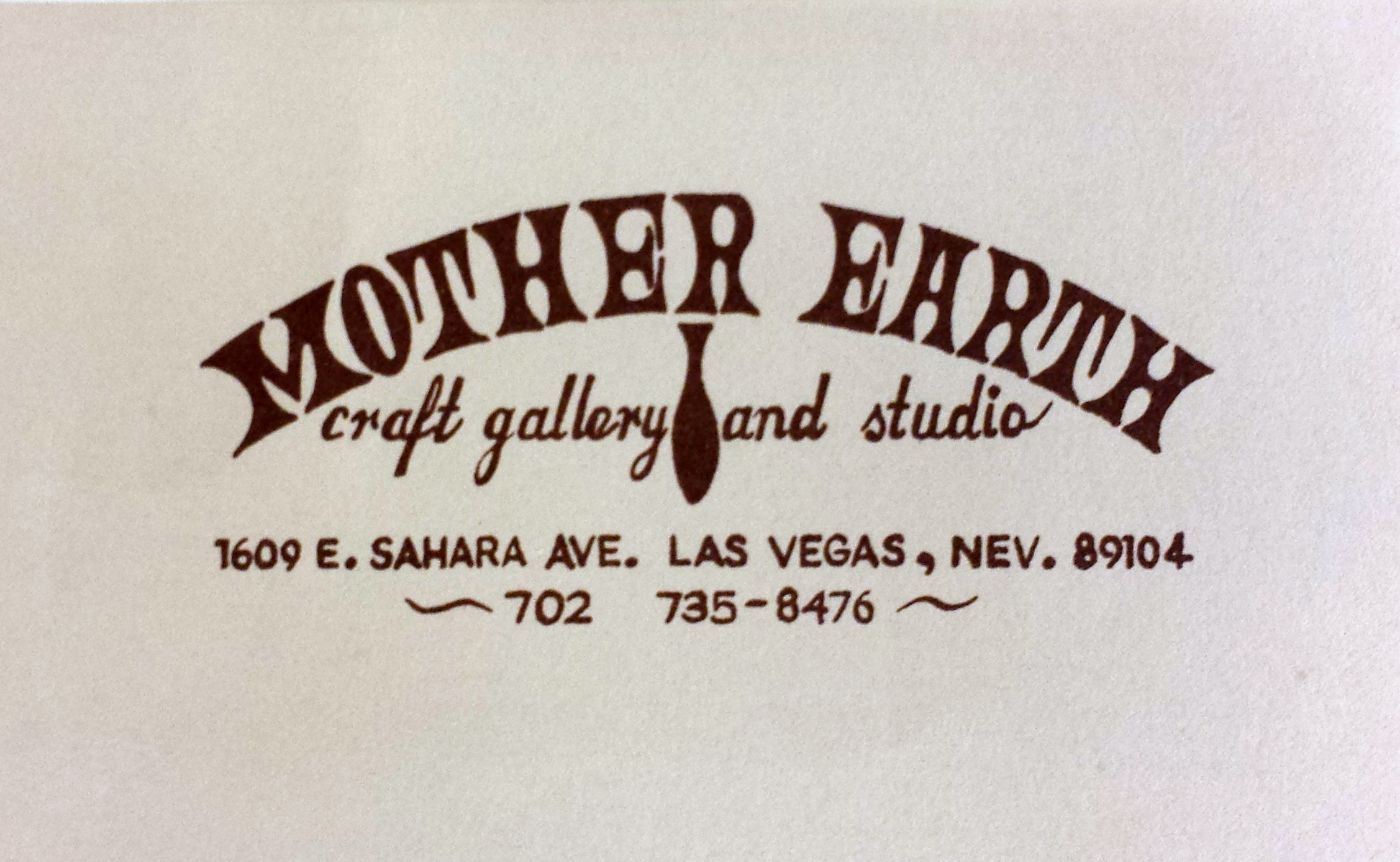 Mother Earth Craft Gallery and Studio letterhead.