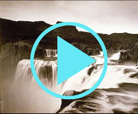 Shoshone Falls, Snake River, Idaho, View across the Top of the Falls (Wheeler Survey), 1874, by Timo