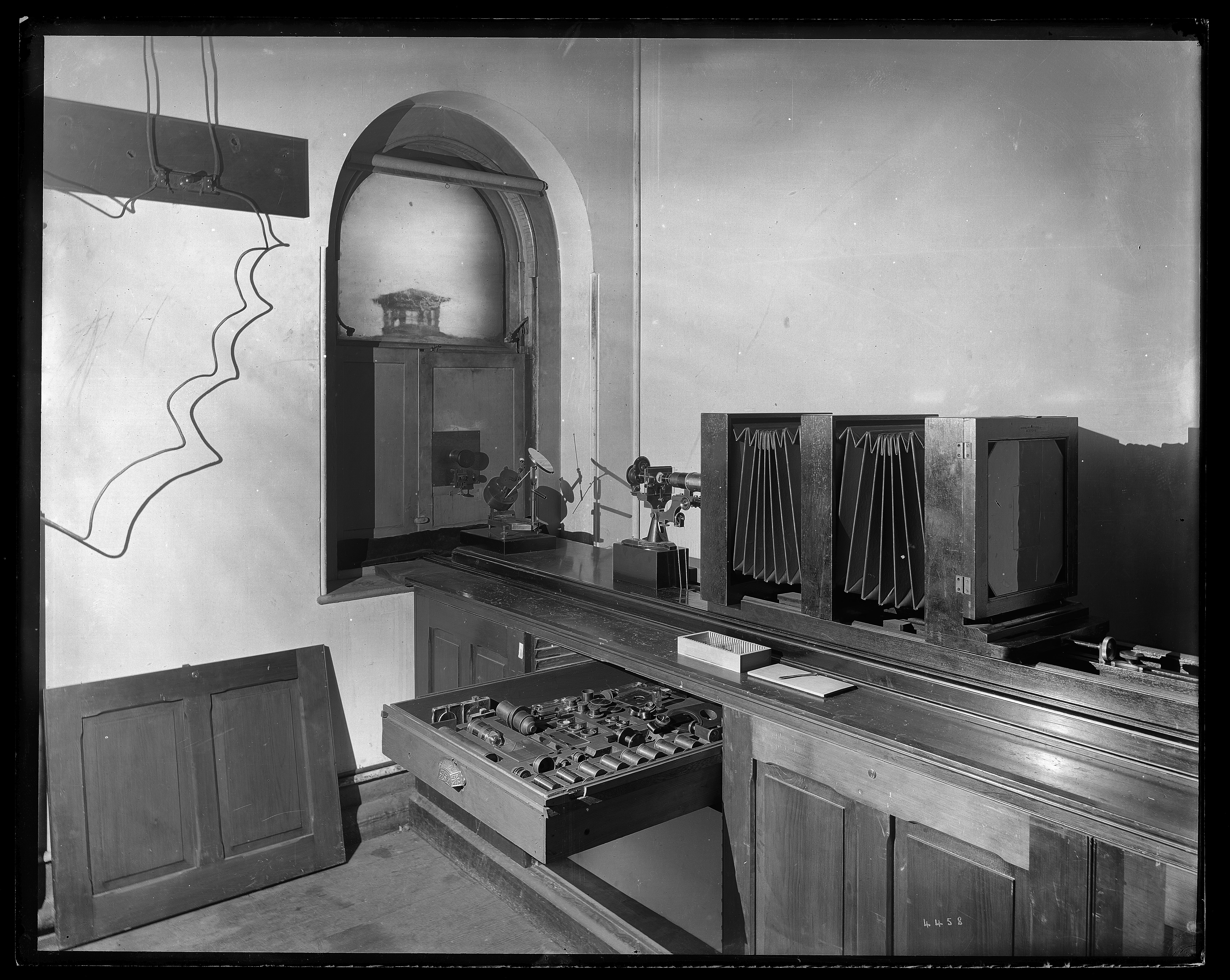 Equipment in the photographic laboratory of the United States National Museum.