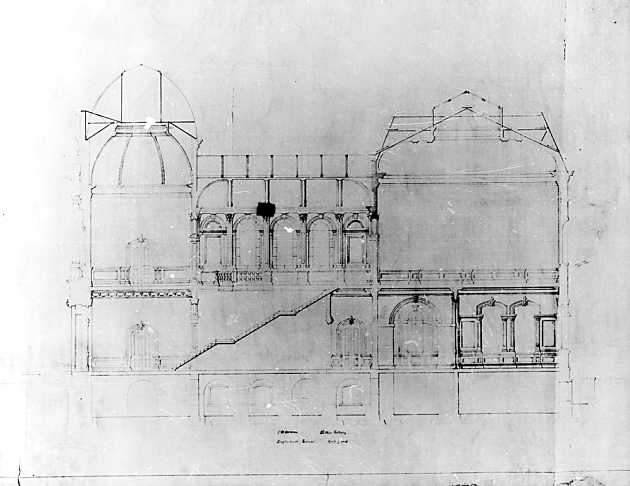 Architectural Drawing of Corcoran/Renwick, c. 1890.