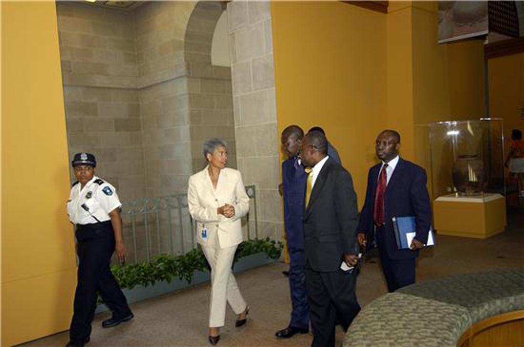 Asantehene Osei Tutu II, ruler of the Ashanti people in Ghana, visited the National Museum of Africa