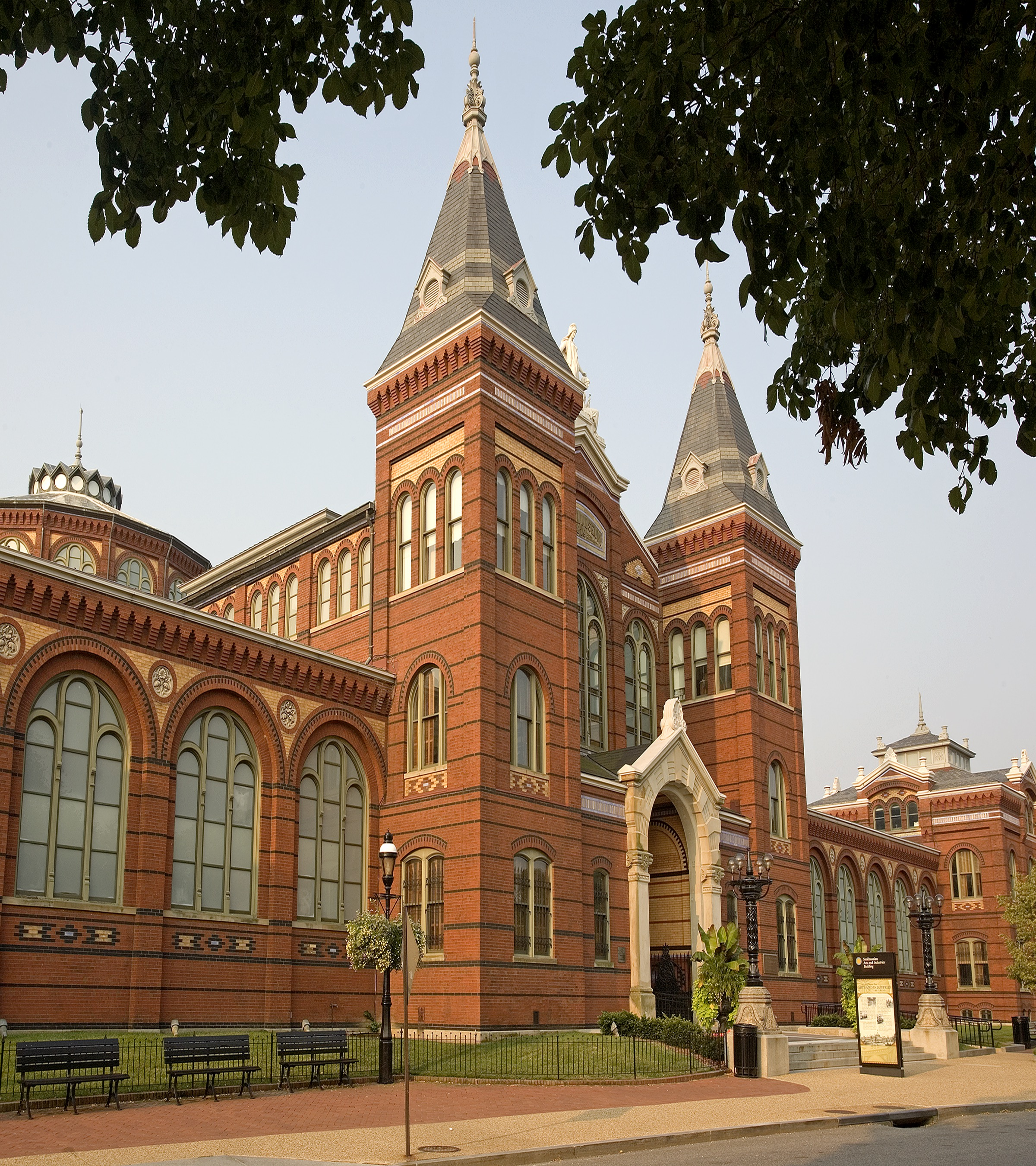 Front view of the Arts and Industries Building