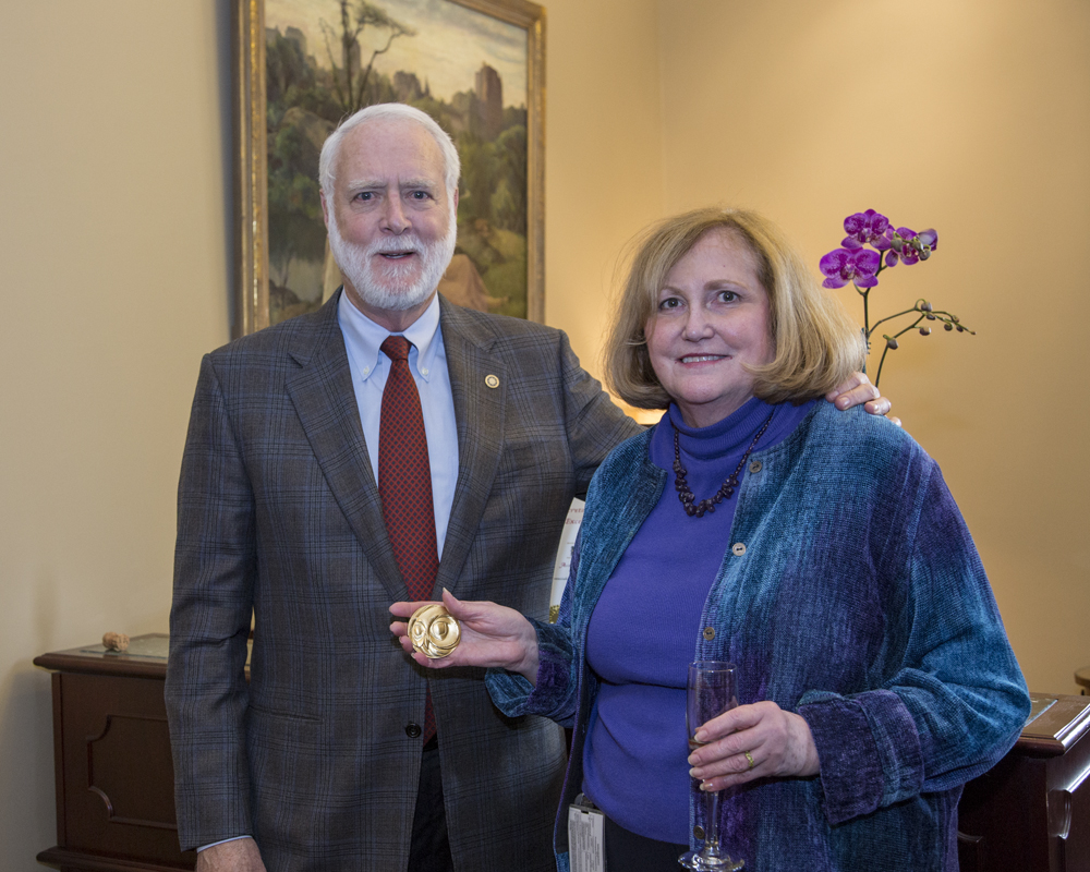 Secretary G. Wayne Clough and Smithsonian Historian, Pam Henson, 12/4/2014.