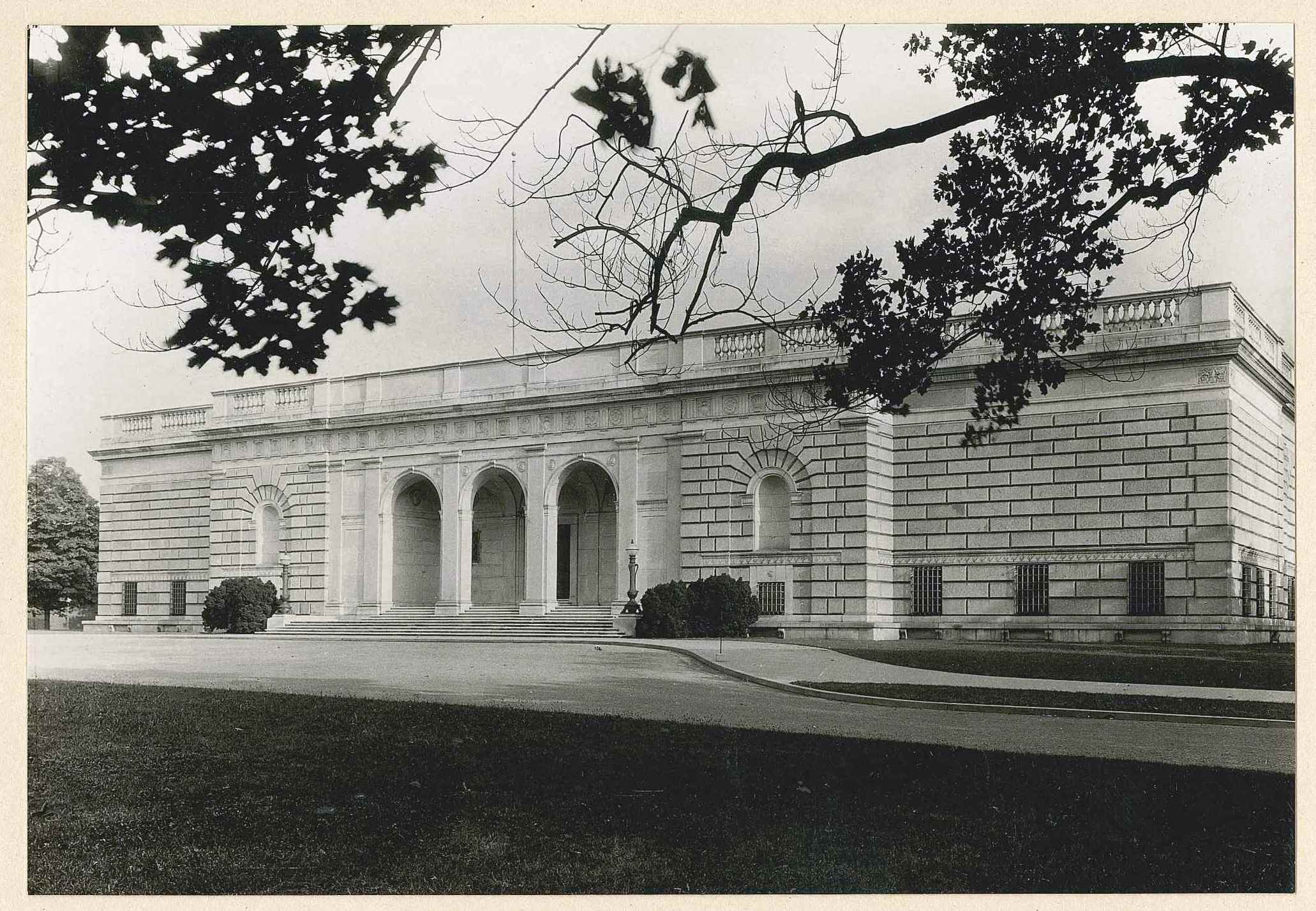 Freer Gallery of Art, by Richard Southall Grant, 1927. Accession 03-018: Freer Gallery of Art and Arthur M. Sackler Gallery, Central Files, 1919-1986, Box 3, Folder: GRA, Smithsonian Institution Archives.